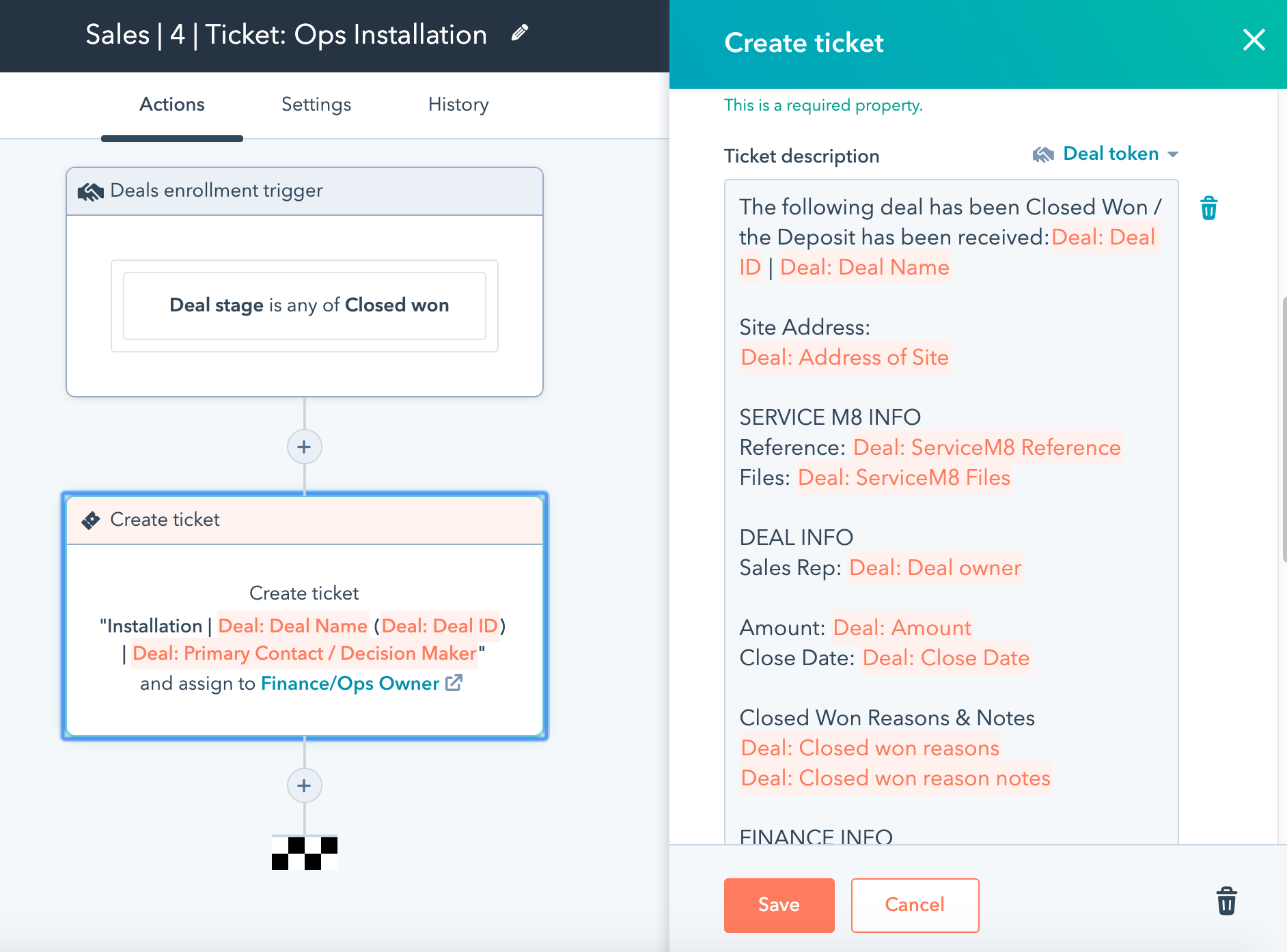 Creating tickets in Service Hub